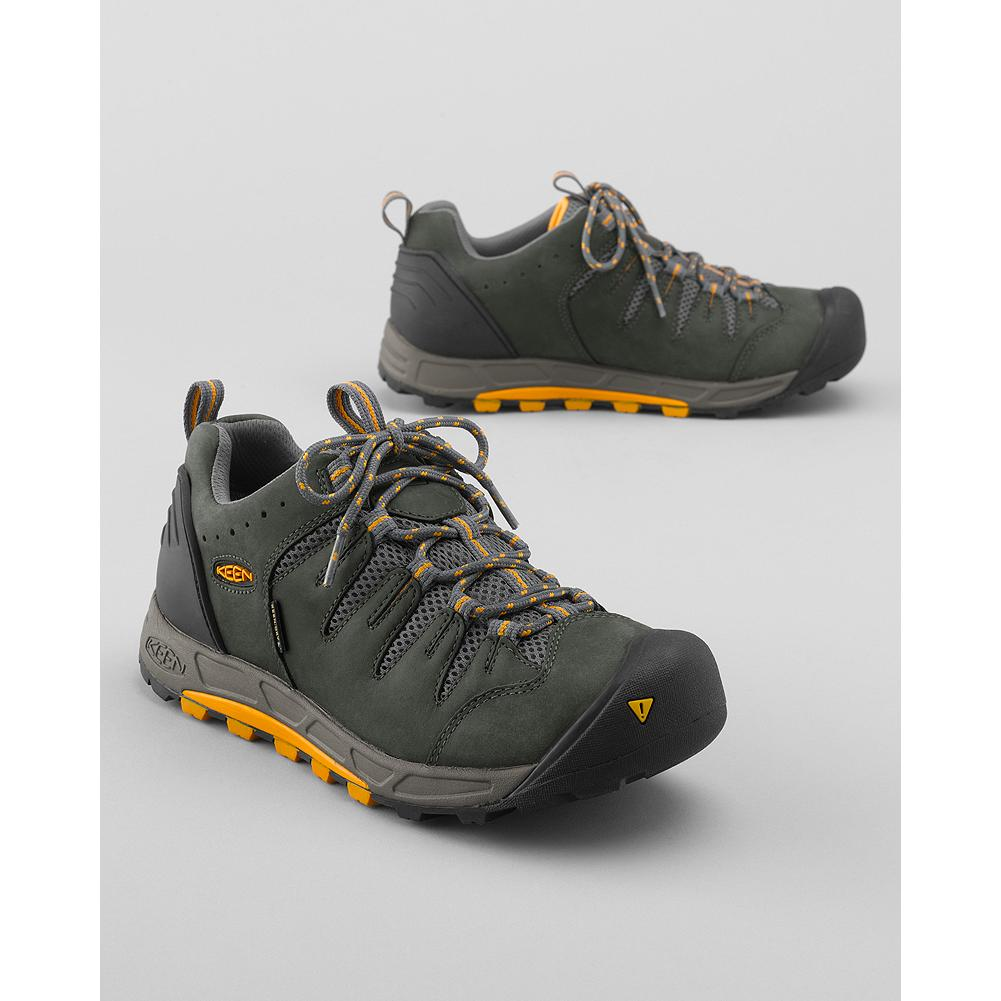 Camp and Hike Keen Bryce Waterproof Hiking Shoes - Defeat all forms of wet weather with these Keen hiking shoes. The KEEN.DRY(TM) synthetic membrane is waterproof, breathable, and moisture-wicking. Leather upper and rubber sole. Imported. - $59.99