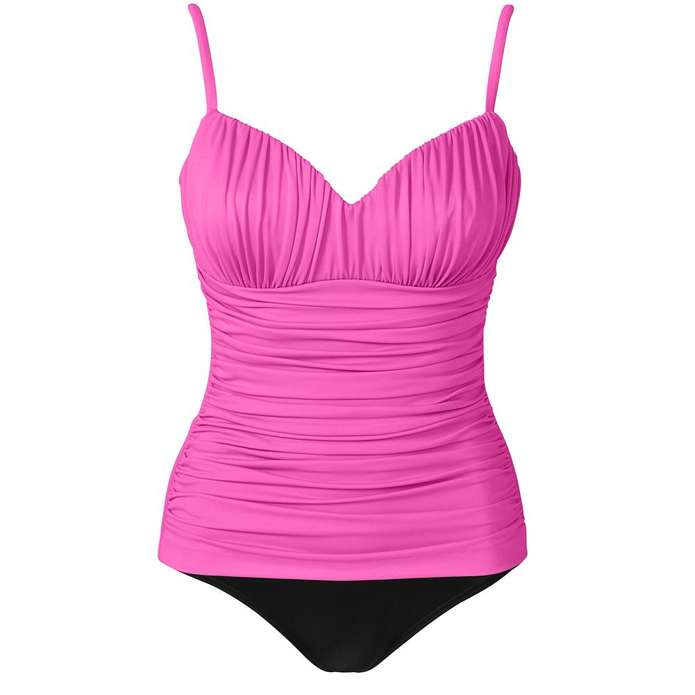 Fitness Miraclesuit Color-Block Rialto Swimsuit - Simply stunning. Made of Miratex, the innovative fabric that helps you look 10 pounds lighter in 10 seconds and provides three times the usual support-with none of the usual discomfort. Foam cups and adjustable straps. USA/imported.   First time purchasing a Miraclesuit? Many customers order one size larger than their usual size. Please look at our size chart to find out the best fit for you. View Size Chart.               Watch Product Demo - $59.99