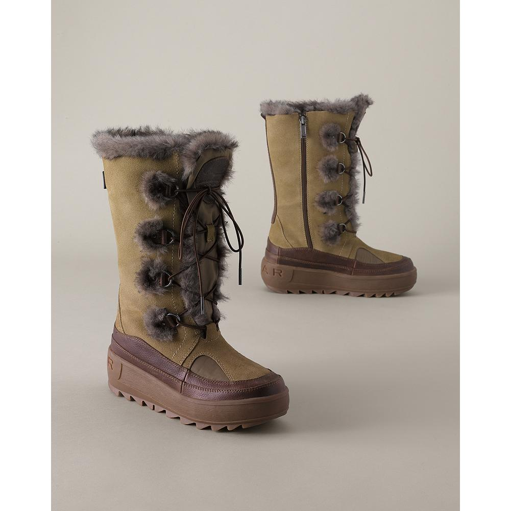 Pajar Native Boots - Pajar's waterpoof winter boots keep your feet toasty and warm down to -25degF. Suede upper with faux-fur accents. Waterproof membrane and taped seams ensure that feet stay dry. Fleece lining. Memory foam insole. Rubber outsole. - $59.99