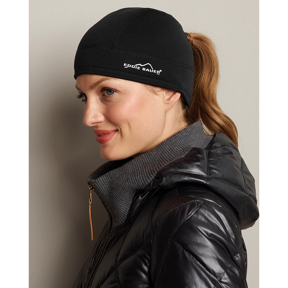 Polartec Power Stretch Beanie - Design details matter, especially when you're on the go. This high-performance beanie even features a cut-out in back to accommodate a ponytail. Wind- and abrasion-resistant, the breathable Power Stretch fabric is lined with supersoft fleece for your comfort. Polyester/nylon/spandex. Imported. - $9.99
