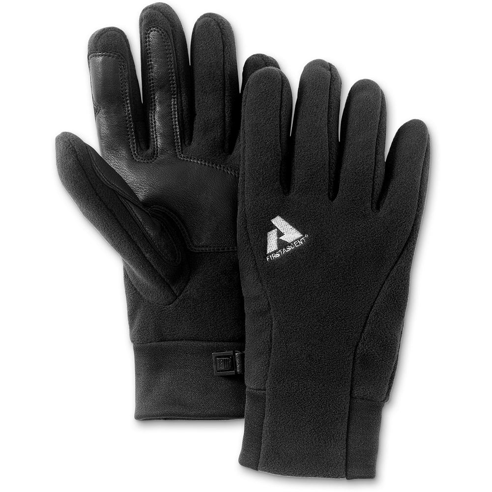Polartec Wind Pro Leather Palm Mountain Gloves - An amazingly versatile, unisex glove that performs in an array of conditions. Made of windproof Polartec Wind Pro fabric with a leather palm overlay for added durability and dexterity. - $39.95