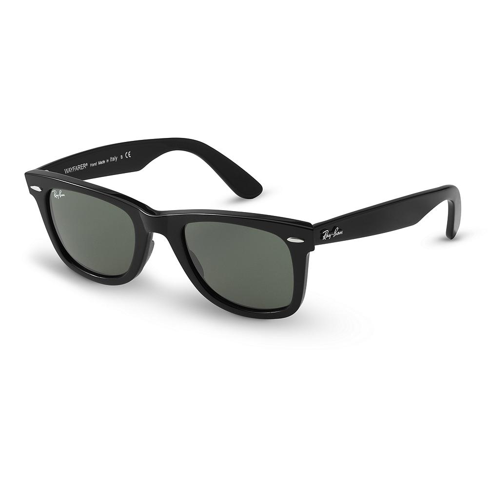 Entertainment Ray-Ban Wayfarer Sunglasses - The Wayfarer's distinct shape makes it the most recognizable style in sunglasses. Dating back to 1952, its versatile design has made it a fashionable mainstay. From recreational to casual to dress, the Wayfarer is an excellent choice. Imported. - $145.00
