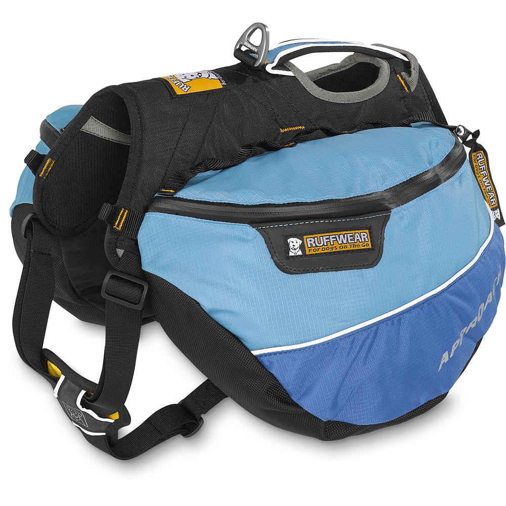 Camp and Hike Ruffwear Dog Approach Pack - The Approach Pack is a unique piece of gear that allows your dog to participate on your hike. Offset your weight by giving your dog a load to carry. Imported. - $79.95