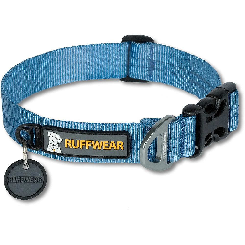 Entertainment Ruffwear Hoopie(TM) Collar - A tough, durable dog collar. An anodized, one-piece aluminum V-ring provides a secure attachment point for your leash. Tubular webbing is soft, yet strong. A side-release buckle keeps your dog secure. Silicone tag silencer minimizes the jingle of dog tags, along with a separate ID tag attachment point. Imported.. - $12.99