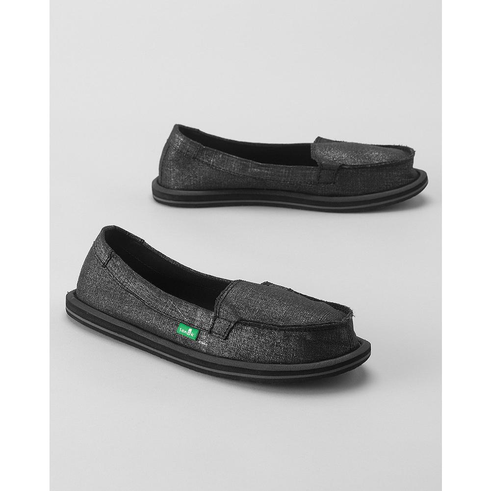 Fitness Sanuk Ohm My Sidewalk Surfer Slip-Ons - These Sanuk slip-ons offer the comfort of sandals in a canvas shoe that features a new drop-in yoga-mat footbed. - $39.99