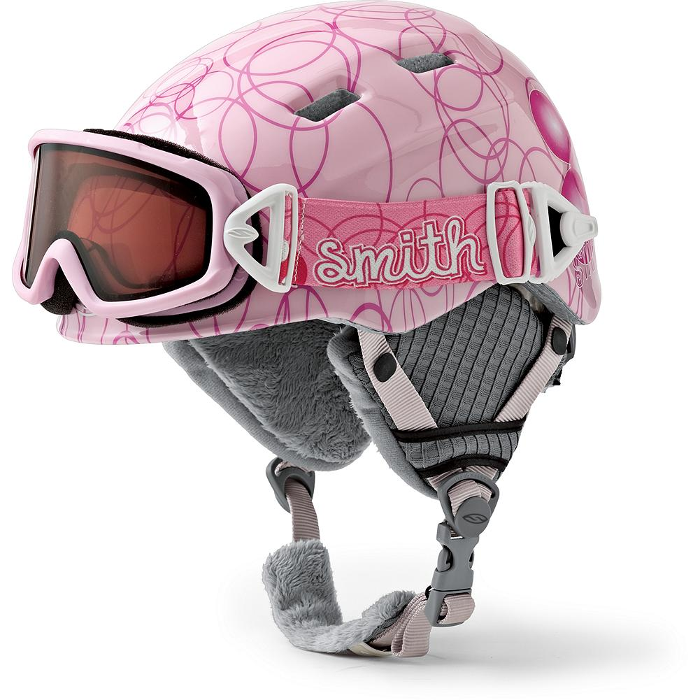 Ski Smith Kids' Cosmos Jr. Helmet & Galaxy Goggles Combo - Out-of-this-world fit, style and performance, in one seamless package. A magnetic buckle design makes it easy for even little kids to attach their own goggles, which feature hypoallergenic face foam and adjustable straps. The lightweight, in-mold helmet has supersoft tricot lining and airflow climate control. - $54.99