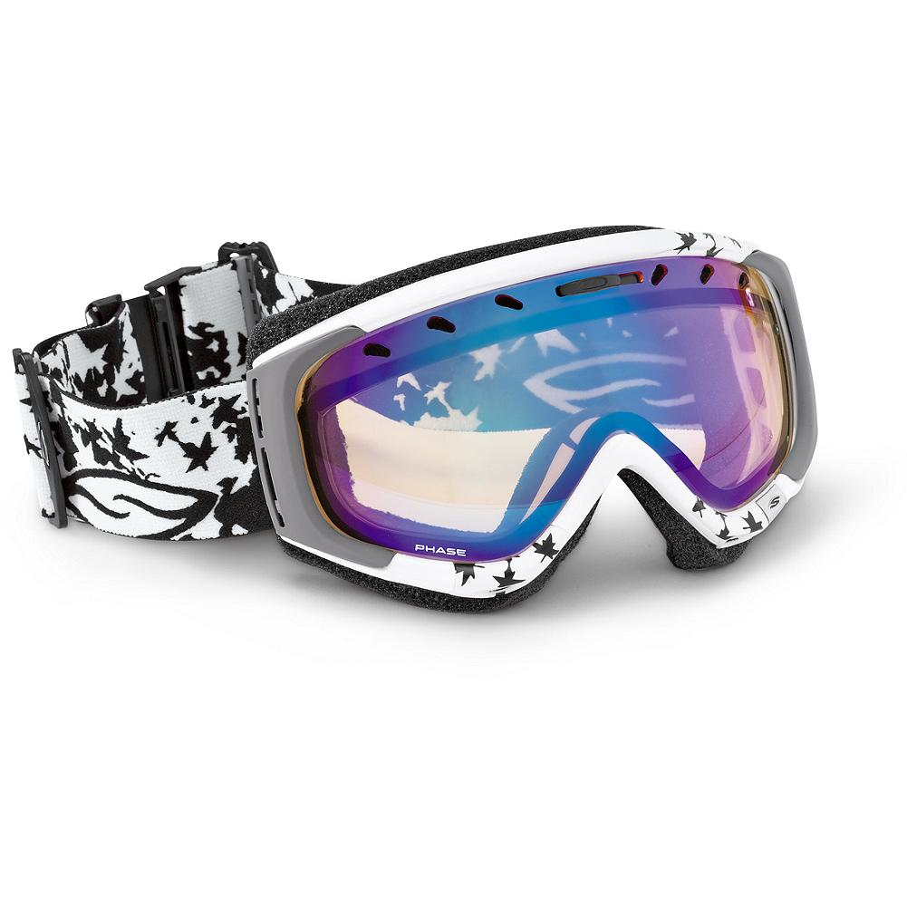 Ski Smith Phase Goggles with Ignitor Lenses - For a spectacular mountain view. Spherical, Carbonic-X lenses with TLT Optics. Quickfit Strap Adjustment and Articulating Outrigger Positioning deliver a comfortable, well-sealed fit. Helmet-compatible ultra-wide silicone strap. Microfiber bag included. Imported. - $89.99
