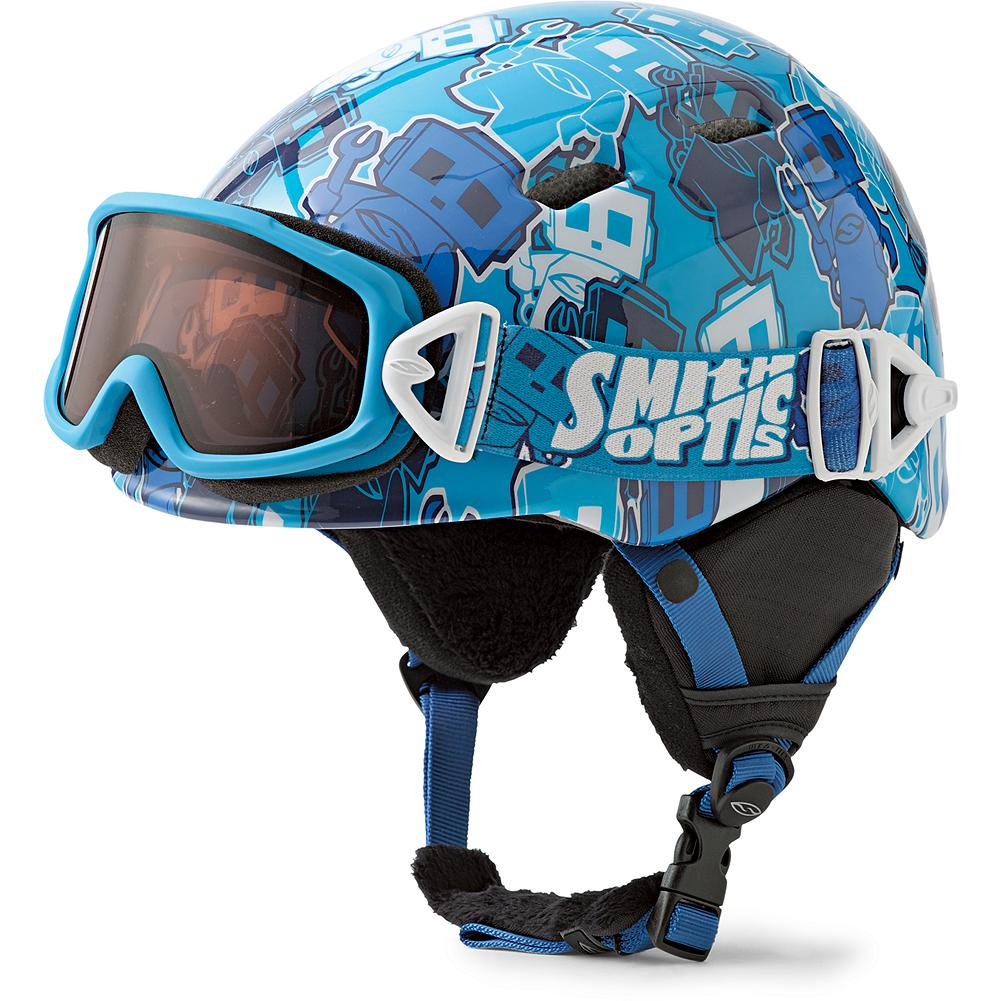 Ski Smith Kids' Cosmos Jr. Helmet & Galaxy Goggles Combo - Out-of-this-world fit, style and performance, in one seamless package. A magnetic buckle design makes it easy for even little kids to attach their own goggles, which feature hypoallergenic face foam and adjustable straps. The lightweight, in-mold helmet has supersoft tricot lining and airflow climate control. (Goggles size: youth/small.) - $54.99