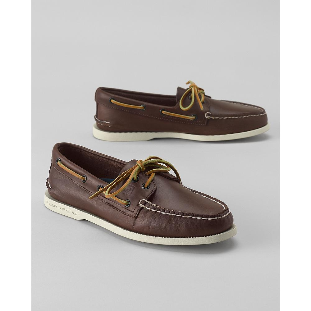 Entertainment Sperry Top-Sider Classic Boat Shoes - This iconic shoe style, crafted in stain- and water-resistant leather, features genuine handsewn Tru-Moc construction for a custom fit. The non-marking rubber outsoles offer Razor-Cut Wave-Siping for the ultimate wet/dry traction that Sperry is known for. Constructed with a 360deg Lacing System(TM) with rust-proof eyelets, and a shock-absorbing EVA heel cup. Imported.. - $85.00