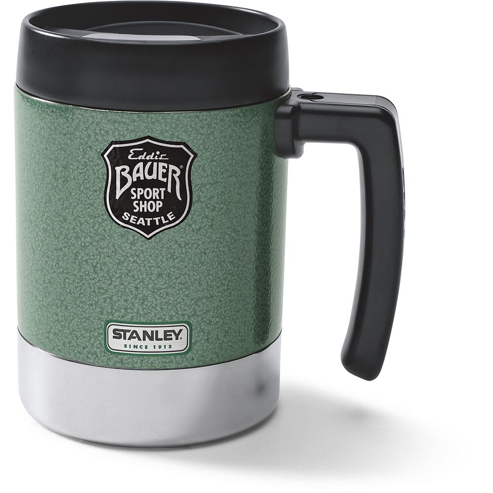 Camp and Hike Stanley Camp Cup - Fill this big, rugged stainless steel camp cup with something warm or refreshing and greet your day in the great outdoors with a smile. Leak-resistant, drink-through lid. Imported. - $24.50
