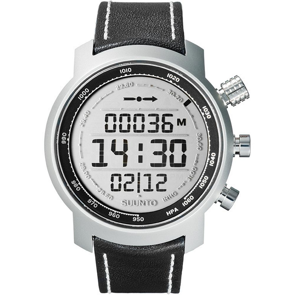 Entertainment Suunto Elementum Terra Watch - This limited-edition watch features multiple functions including an altimeter, chronograph and 3D compass. High-quality LCD display. Water-resistant to 100m. Corrosion-resistant AISI 316L stainless steel case. Sapphire crystal glass. Replaceable leather strap. - $799.99