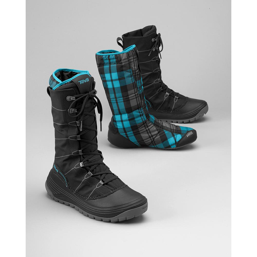Entertainment Teva Jordanelle Boots - Outside, in any weather, these boots deliver, with a waterproof synthetic upper; 300-gram Thinsulate(TM) LiteLoft(TM) insulation and a slip-resistant rubber sole. And inside, the removable liner doubles as an indoor bootie. - $27.99