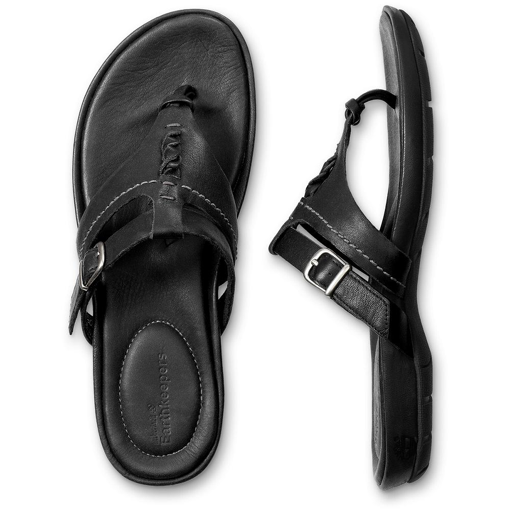 Entertainment Timberland Earthkeepers Pleasant Bay Thongs - Simply stylish, premium-leather thongs by Timberland-the perfect everyday, warm-weather slip-on. Their updated multi-strap design features supple, durable leather and an adjustable buckle for a custom fit. Earth-friendly recycled rubber soles provide a sure and steady step. Imported. - $59.99
