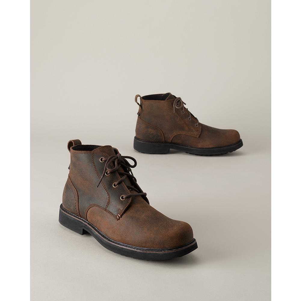 Entertainment Wolverine Heritage Chukka Boots - Only found at Eddie Bauer. Classic chukka comfort, with water-resistant, full-grain leather upper and supportive steel shank to reduce foot fatigue. Cushioned gel insole is removable to allow use of custom orthotics. Moisture-wicking Dri-Lex lining keeps foot cool and dry. - $149.00