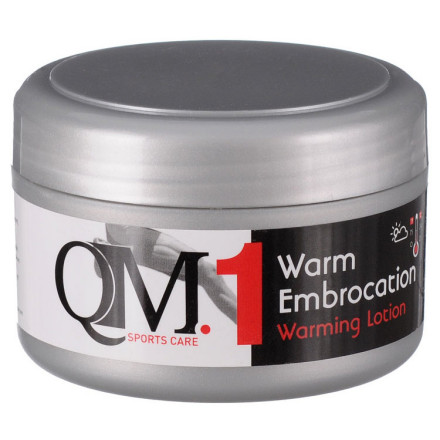 Fitness When you feel that early autumn nip in the air, you can't count on the sun to help you warm up your muscles. QM Sports Care Embrocation Warming Lotion can cut your warm up time and reduce muscle fatigue to keep you riding in comfort even when the cold snaps.QM Sports Care uses 100% natural ingredients to concoct products that aid performance as well as mitigate stress injuries. As far as this Embrocation Lotion is concerned, a little dab will do. It's packaged in a tub like your grandma's old cold cream, but don't be fooled that it will be anything but the most advanced pre-ride massage product on the market. With an off-white color and clover honey-like texture, it's easy and mess-free to scoop with your fingers and rub it into your leg muscles before you slip into your bib shorts.To keep your legs warm throughout the winter months and the changing temperatures of the season, QM Sports Care has developed three different versions of the Embrocation Lotion with three different heat levels. Level 1 or the Warm Embrocation is intended for those early fall days where the temps will hover around 75 degrees F. It feels like a quick jump start, but nothing overpowering. Then there is the Level 2 Hot Embrocation Lotion which is designed for 60 degree days that may threaten a little rain too. This will give you a pleasantly warm feeling, though not with an annoying tingling effect. It will reach deep into the muscles with just a few minutes of massaging. And if your legs are still a little sore from the previous day's ride, the lotion will give you definite relief from the pain.When it's cold and rainy, but you still have to get out and ride, it would be time to bring out the heavy-hitter in the QM Sports Care embrocation quiver. The Level 3 Extra Hot Lotion has been added to the lineup to aid folks who ride a large portion of their base miles in Classics style weather. - $20.00