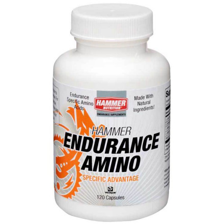 "Fitness You know that you need amino acids for recovery. But understanding the actual mechanics of why that is, and what you need to replenish is important as you weigh whether to buy an amino supplement like Hammer's Endurance Amino. The first thing to understand about amino acids is that they're used by your body to help convert both protein and carbs into fuel, but aminos also serve an important role as antioxidants. The latter function is just as valuable because if you think of oxygen as fuel, an athlete needs more of it to operate effectively. But the more oxygen you ""digest,"" the more oxidation occurs, which means you'll be exposing your body to more harmful agents that can cause you to get sick -- and nothing is worse than going down with a lingering cold right as you're starting to surge toward peak fitness.Further, because your body has a limited supply of amino acids, if you work out for two hours or longer, you'll grow increasingly less efficient at converting food into fuel, because your amino stores can be depleted as you ride. So for longer workouts, you have to put back the used up aminos, just as you add in carbs and protein. Yes, we all get amino acids from foods, but rarely can you eat your way to an optimal level, especially during exercise, not to mention just before or just after an event.Hammer Endurance Amino contains a set of important branched chain amino acids that can target the losses you're going to create during a long ride, or have just induced during a ride. These include l-leucine, l-isoleucine, and l-valine, and they work in concert (meaning taking any single one won't offer the same benefits) to stave off muscle fatigue. L-alanine is another amino in the mix, because it's particularly good at helping the body synthesize carbs.To get the most from Hammer Endurance Amino, consume a total of 2-4 capsules before and after exercise, depending on body weight, work load, and ride time. - $29.95"
