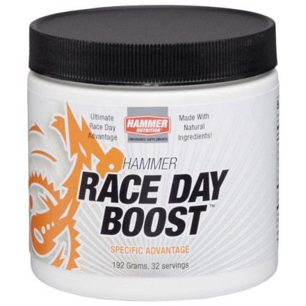 Fitness Race Day Boost contains one of the most potent legal ergogenics available for competition. In the most extensive study to date on Race Day Boost's key ingredient, fit cyclists in a 40K time trial netted a whopping 8% time improvement. Its simple formula belies its profound effectiveness, aiding in increased cellular energy production and buffering performance-robbing lactic acid. A four-day loading dose of Race Day Boost prior to a key race can make a noticeable improvement in your performance. This is a special product for special events, but if you intend to win, you better have Race Day Boost on board. Research strongly suggests that oral doses of Sodium Phosphate significantly contribute to raising extracellular phosphate levels. In doing so, Race Day Boost will enhance the functions and performance of all three of your body's sources of energy production as well as effectively buffering lactic acid during your races. Our muscles have three different energy systems, the ATP-CP system, the lactic acid system, and the oxygen system. Every muscle fiber possesses all three of these systems but only one form of energy can be utilized, ATP. The purpose of the three energy systems is to supply additional ATP, which is in limited supply in the muscle. The rate at which they can supply it varies. The first energy system is the ATP-CP (Adenosine triphosphate and creatine phosphate) system. ATP is the immediate source of energy for muscle contraction. It releases energy very rapidly but again, it is in a very limited supply. This energy system does not need oxygen to produce energy and is capable of producing energy rapidly for short periods of time. The sodium phosphate in Race Day Boost donates its molecular structure in the re-synthesis of Creatine Phosphate (CP) and Adenosine Triphosphate (ATP) and will improve the performance of this short-term energy system. The pH of the blood is around 7.3 to 7.4, which is slightly alkaline. - $19.95