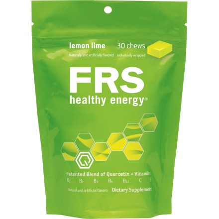 "Fitness All FRS Healthy Energy products are, in essence, different methods by which to take the same general ingredients. They all deliver the same amount of Quercetin and vitamins through different media. A serving of Chews delivers the same good stuff to you that the drinks do. The calories are a little different but the important stuff remains the same.This pouch comes with 30 individually-wrapped Chews. A serving is two Chews totaling 40 calories. FRS recommends two servings a day, either one in the morning and one in the afternoon, or one a half-hour before a ride and one a half-hour after. And, as a supplement to the two servings, it can be used as a pick-me-up when you feel your energy flagging.Quercetin is an anti-oxidant that's been clinically proven to produce a stimulant effect similar to caffeine. When taken twice daily, quercetin helps keep you focused and feeling energetic. Perhaps more importantly, FRS products with quercetin are Free Radical Scavengers, hence the name. As you exercise, your muscles produce these oxygen-centered free radicals that float around and participate in oxidative reactions that cause cell damage. The quercetin ""picks up"" the free radicals so they cannot do harm to your healthy cells.Studies also show quercetin to play a role in the production of mitochondria within cells. Mitochondria are the powerhouses of cells and produce most of your cellular ATP, the currency of energy you might say, during aerobic exercise. In this manner, the quercetin in FRS products increases your V0 max potential by nearly 4% and ride time to fatigue by 13%. That could be the difference between first and tenth place in any given race. The mitochondrial increase also slows the usage of muscle glycogen and glucose and shifts towards a greater reliance on fat oxidation for energy, allowing all of your energy stores to work in harmony to keep you fueled throughout your ride. - $10.00"