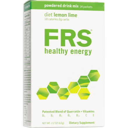 "Fitness FRS Healthy Energy Low-Cal Drink Powder delivers a combination of vitamins and the flavanoid quercetin to combat fatigue, muscle damage from strenuous exercise, and illness. Each powder packet is a single serving and is easily added to a 16oz. water bottle.Quercetin is an anti-oxidant that's been clinically proven to produce a stimulant effect similar to caffeine. When taken twice daily, quercetin helps keep you focused and feeling energetic. Perhaps more importantly, FRS products with quercetin are Free Radical Scavengers, hence the name. As you exercise, your muscles produce these oxygen-centered free radicals that float around and participate in oxidative reactions that cause cell damage. The quercetin ""picks up"" the free radicals so they cannot do harm to your healthy cells.Studies also show quercetin plays a role in the production of mitochondria within cells. Mitochondria are the powerhouses of cells and produce most of your cellular ATP, the currency of energy you might say, during aerobic exercise. In this manner, the quercetin in FRS products increases your V0 max potential by nearly 4% and ride time to fatigue by 13%. That could be the difference between first and tenth place in any given race. The mitochondrial increase also slows the usage of muscle glycogen and glucose and shifts towards a greater reliance on fat oxidation for energy, allowing all of your energy stores to work in harmony to keep you fueled throughout your ride. FRS products that contain quercetin also have anti-inflamatory and anti-viral benefits that ease the stress of heavy training cycles and minimize the risk of joint inflammation and susceptibility to illness.FRS Healthy Energy Low-Cal Drink Powder combines quercetin with other vitamins in a blend that maximizes its bioavailability. Low-Cal Drink Powder is available in three flavors -- Lemon Lime, Orange, and Wild Berry. It's great for anyone who needs to maintain their energy levels and is watching their caloric intake. - $10.00"