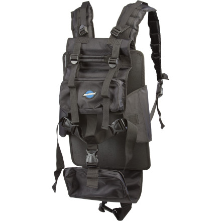 Camp and Hike The Park Tool Backpack Harness makes it easy to tote your BX-1, BX-2, or EK-1 tool kit around with you and leaves your hands free to fight off marauding tool thieves. This fully adjustable harness features padded shoulder and waist straps, a sternum strap, and convenient pouches for your phone, music, a snack, or tools that you need to get to quickly, like your hex wrench set. - $89.95
