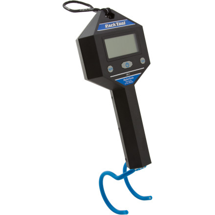Fitness Admit it -- you really, really wanna know. How much does you bike weigh' Is it really as light as you think' The Park Tool DS-1 Digital Bicycle Scale divines the truth, for better or worse. The precision of the DS-1 is second-to-none. It can measure anything up to 55lbs (it can go metric if you prefer), and its accuracy is rated to 0.005%. Its LCD display is easy to read and it can weigh doo-dads as light as 20g.You can set it to display weights in grams, ounces, or pounds. The brilliant thing about the DS-1 is that you can cinch it in a Park Tool workstand clamp for weighing things like wheels or frames. And it comes with a loop to hang higher when you weigh your bike. A silicone-coated hook protects your frame's finish and prevents it from sliding. For small parts you can hang a tray or a bag on the hook and re-zero it to tare the weight. It's built with a rugged, shock-resistant rubber housing to endure the typical abuse of a bike workshop. Batteries are included, and it comes with a 1 year warranty.Silicon coated hanger prevents damage to finishes Measures and displays kilograms to .02 kg (.02 kg = 20 grams) Measures pounds to 1 oz (1 oz = 28.35 grams) Weight limit of 25 kilograms (55 pounds) 3  batteries not included - $55.00
