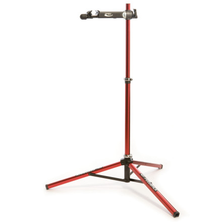 Fitness For over a decade the Feedback Sports Pro Bicycle Repair Stand has set the standard for full function, professional grade, portable bike stands. This stand features adjustable height, from 42-71 inches, and 360-degree rotation. The patented Slide-Lock clamp offers quarter-turn action to get bikes quickly in and out of the stand and a polypropylene molded jaws wont mar seat post and tubes. The Pro Bicycle Repair Stand requires no tools for setup or tear-down and easily folds up into a compact, 12-pound package. This heavy duty stands tripod configuration remains stable on uneven surfaces and supports bikes up to 85lb, including tandems and DH rigs. - $199.95
