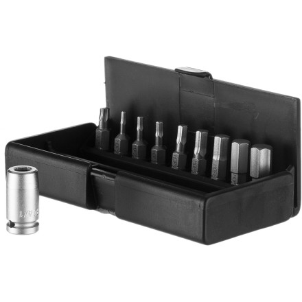 Fitness Equip your home shop with the Syntace Torque Bit Set. These quality bits come in 2mm, 2.5mm, 3mm, 4mm, 5mm, 6mm, 8mm, 10mm, and Tx25 Torx with a convenient holder. - $72.25