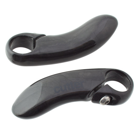 MTB Enhance your bike's climbing prowess with the Cutter Carbon MTB Bar Ends 2.0. You'll get better bar leverage, and a stronger platform off of which to launch your last big push to the top.Bar ends will clamp to a variety of bar diameters - $18.80