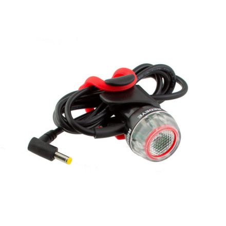 The Red Eye Mk.2 Light with Long Cable is a perfect complement for any Exposure Headlight with Smart Port Technology Plus. Used with compatible lights, Like the Maxx D, Toro, or Strada, the Red Eye simply plugs into the Smart Port and runs off the built-in battery of the front light. The long cable allows plenty of slack to get from the handlebar mounted headlight to the seatpost where you'll mount the Red Eye rear light on even the biggest sized bike frames. It uses a single Seoul P4 LED to produce 80 Lumens, enough to make you visible to errant drivers.The Exposure Red Eye Mk.2 Light with Long Cable mounts to the seatpost with a tidy plastic cradle and silicone strap. The attachment is tool-free and installs in moments so it's easy to get on or off the bike quickly. The Red Eye benefits from a weatherproof design that includes a CNC machined aluminum housing and a full complement of O-rings just like Exposure's bigger lights. Should you get yours muddy, Exposure recommends cleaning their lights with a soft, damp towel. Exposure Lights have a two year warranty against defects in materials and workmanship. - $49.00
