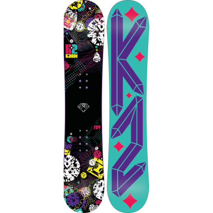 Snowboard Diamonds may be a girl's best friend, but your new BF is actually the K2 Girls' Kandi Snowboard. Way cuter and funner than that rental board you learned on, the Kandi's easy-turning profile and forgiving ride will help you dazzle your parents the next time they check up on your progress. - $119.97