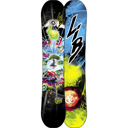 Snowboard The T-Ripper Kid's Snowboard from Lib Tech offers the same all-mountain prowess and freestyle fun found in the grown folk's Banana, but shrinks it down for the junior rippers. - $257.97