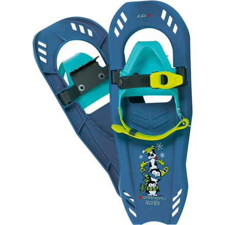 Camp and Hike Give your young winter warrior the tools to enjoy fun hikes through deep snow with the Louis Garneau Neotrail Kid II Snowshoe. A child-friendly ratcheting harness secures his or her boots to these lightweight snowshoes and adjusts without fuss. Steel crampons underfoot and a wide, durable plastic deck and frame material provides all the traction they need to follow you up the hill and into the woods without sinking. Outfitted with technology from adult-level 'shoes, the Neotrail doesn't skimp when it comes to getting your kid around in the snow. - $48.97