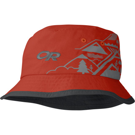 Before he heads out to the trail, toss your not-so-little-anymore guy the Outdoor Research Boy's Solstice Bucket Hat. Its SolarShield construction and UPF-30-rated fabric helps prevent the sun from hammering his head. A TransAction headband wicks moisture off his brow, while this lightweight hat's design helps keep him cool all day long. - $11.98