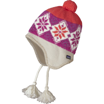 Entertainment Slide the Patagonia Kids Wooly Hat over his or her head and zip up your groms down jacket, because nobody wants to see a sad, cold kid. The fully lined fleece interior provides warmth and a comfortable fit so you wont have to remind your kid to put his or her hat back on. - $21.00