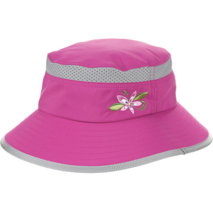Camp and Hike Protect your little hiker with the UPF 50+ Sunday Afternoon Kids' Fun N Sun Bucket Hat, and go out for some fresh air. A flexible 2.5-inch brim shields their face, and mesh panels on the top keep their head cool. An adjustable, breakaway chin strap secures the hat while eliminating choking hazards. - $24.95