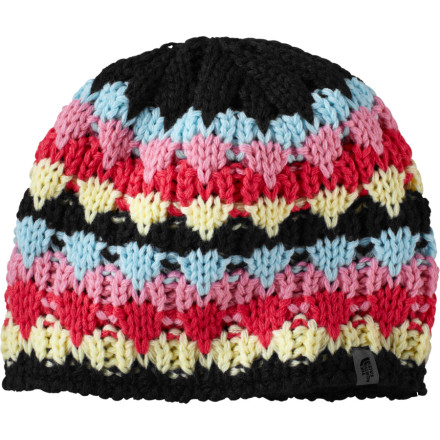 Entertainment Granny's too busy playing Bunco all the time to crochet a toboggan for your growing girl so get her The North Face Girls' Lizzy Bizzy Beanie because you would make her one if you could. She'll be happy with this one as she walks from the pizza shack to the movie theater with the soft microfleece ear band keeping her ears toasty and the colorful handmade-looking acrylic body matching her pretty new winter coat. - $19.47