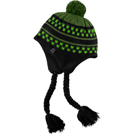 The North Face Girls' Claudia Beanie keeps your young snowbunny warm with cozy traditional style. Long braided tassels, earflaps, and a great big pom pom give the hat plenty of personality--enough (or almost enough) to keep up with your little girl. - $19.47