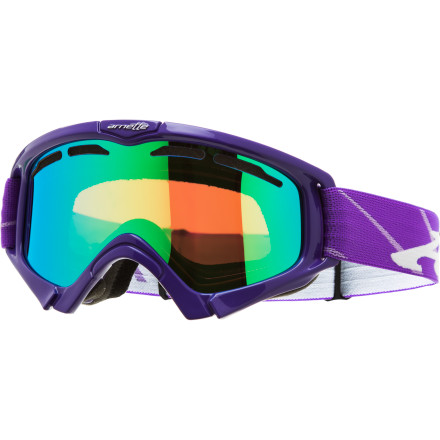 Snowboard The Arnette Mini Series Goggle offers reliable on-hill performance with style to spare. The dual-vented lens and anti-fog coating prevent condensation from collecting on the inner lens, while a fully adjustable silicon gripper strap ensures a secure fit with Junior's brain bucket. - $38.97