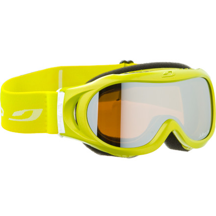 Ski Created with the same attention to detail as their adult goggles, the Julbo Astro Kids' Goggle has a smaller shape designed to fight a youngster's face. Soft foam provides a comfortable cushion between the spherical lenses and your child's face, and the helmet-compatible shape plays nice with his or her safety lid. Julbo even worked in a clever venting system which keeps moisture from accumulating on the inside of the lenses and turning a fun day on the hill into a foggy mess. - $29.97
