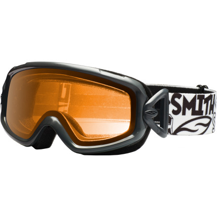 Ski The Sidekick Goggle may be priced for still-growing shredders, but that didn't stop Smith from giving it great fit, comfort, and visual clarity. Dual-lens construction (just like in your more expensive goggles) helps prevent fogging, and the pivoting strap hinges auto-adjust for an ideal fitwith or without a helmet. - $13.96