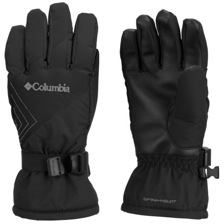 Ski Your little one will dominate neighborhood snowball fights while wearing the Columbia Omni-Heat Snow Raid II Glove. Omni-Heat thermal reflective lining combined with polyester insulation keeps your kids' digits warm and toasty all day long. - $29.96