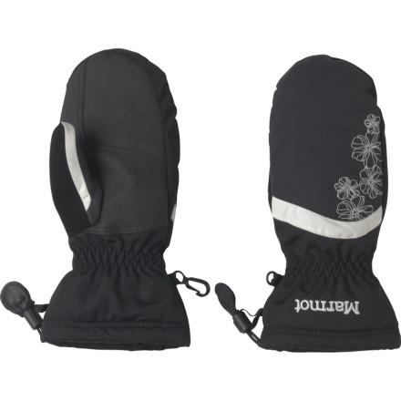 If your girl is going follow through on her plan to build a whole extended family of snowmen, she needs the Marmot Glade Mitten to keep her hands warm and dry. Marmot included the advanced MemBrain insert to keep snow and water on the outside; working with the wicking, fleecy DriClime liner, it also ensures things don't get sweaty and soggy on the inside. Low-bulk Thermal R insulation keeps her fingers toasty; on extra-cold days, you can slip a disposable hardwarmer pouch in the special internal pocket. And while she's rolling and patting the snowpeople, she can admire the pretty embroidered floral detail on her mitten. - $34.95