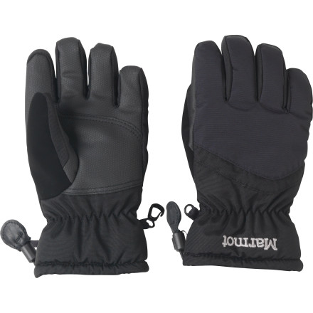 Get adult quality in kids' outerwear with the Marmot Boys' Glade Glove. A tough nylon shell stands up to seasons of snowball fights, while cinches keep out stray snow. Thermal R insulation means he won't have frostbite when he comes inside for hot chocolate. - $34.95