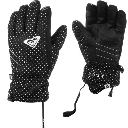 Surf The Roxy Girls' Pine Girl Glove knows that cute style is just as crucial as staying warm. 160g QT13 fill provides the warmth and solid color blocking, contrasting stitching, and a medium profile, under-the-sleeve fit provide the looks. - $24.50