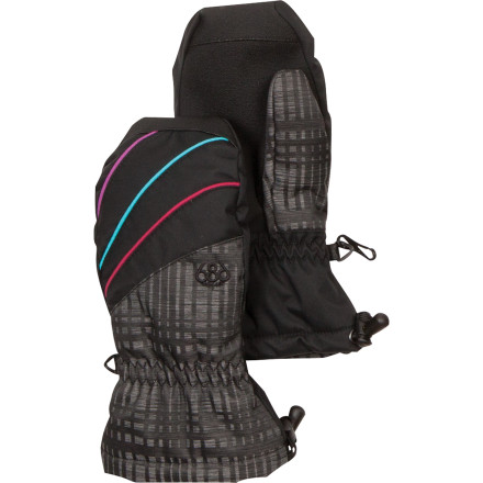 When temperatures really dive this winter, you'll want to protect your cold-sensitive hands so you can stay out and ride all day. The 686 Girls' Sophie Insulated Mitt is packing targeted insulation that puts the warmth where you need it so you stay warm but you can still use your hand. - $16.50
