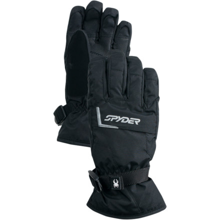Hook your speed demon up with the Spyder Boys Traverse Gore-Tex Glove so his hands will stay cozy while he terrorizes the slopes. A Gore-Tex waterproof breathable insert and Spylon water-resistant finish combat the wet and keep him comfortable and dry when hes on his next shredding mission. - $35.72