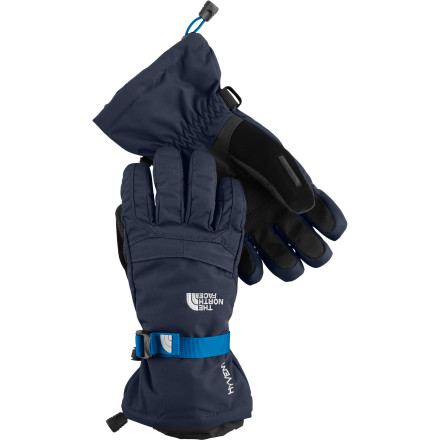 Ski Outfit your young architect in The North Face Boys' Montana Glove before sending him outside for a day of digging tunnels and building forts in the snow. The Montana glove's waterproof breathable HyVent shell keeps his hands dry, while Heatseeker insulation traps in warmth. - $29.97