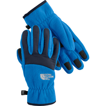Thanks to heavyweight fleece material, The North Face Boys' Denali Gloves keep your boy's hands warm on the playground. The North Face added nylon fabric over the knuckles and fingers for extra durability and warmth. - $23.95