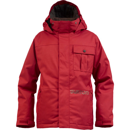 Ski All day long, all season long, the Burton Boys' Sludge Insulated Jacket keeps the kid alright with zonal Thermacore insulation and life-enhancing Room-to-Grow System. Whether he's after snowball fights in the yard or making laps through the park, the Sludge keeps him out longer and keeps him drier. - $62.96