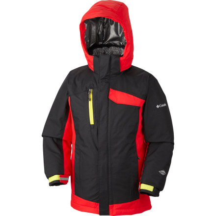 Ski Send Junior out to train for his pro career in the Columbia Ryder Warmth Jacket. Columbia used the best technology from its adult line of skiwear in the Ryder Warmth, so you know he'll have all the protection that he needs as he tears down the slopes making the older skiers look bad. - $71.97